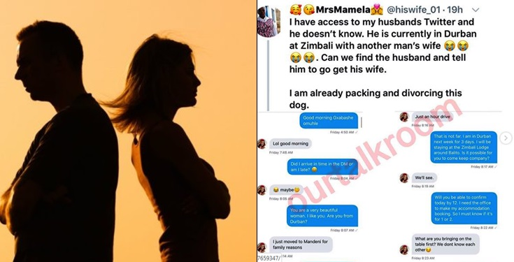 Woman Exposes Chat Between Her Husband And His Side Chick