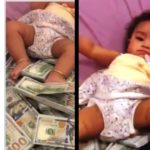 Nigerian Father Turns Bundles Of Dollars Into Daughter's Bed