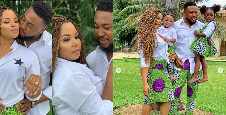 Nollywood Actor, Nosa Rex and wife Deborah celebrate 4th wedding anniversary with family photos
