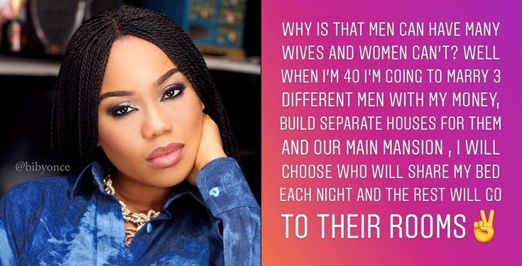Toyin Lawani: I Will Marry 3 Men, Build Houses For Them