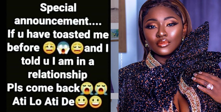 "Actress Yvonne Jegede begs for  toasters ""Please come back ati lo ati de'"