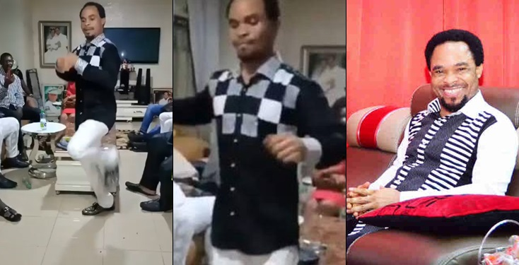 Man of God spotted energetically dancing zanku to Olamide's Pawon gets backlashes