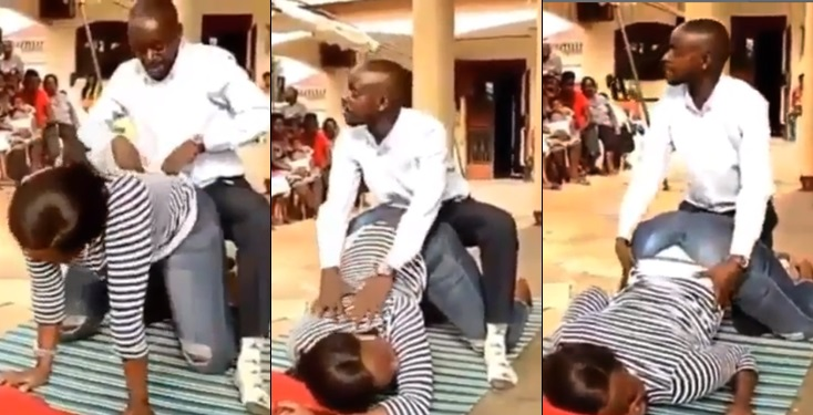 Ugandan pastor preaching s3x education to his church members