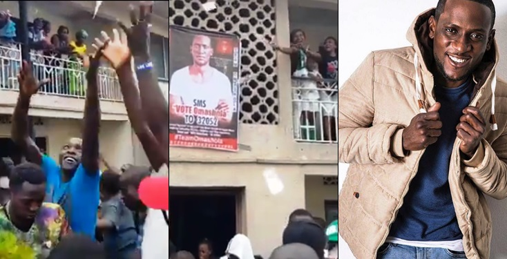 BBNaija: Omashols's Fans Turn Voting Into A Carnival, Doling Out Cash To Ensure He Wins