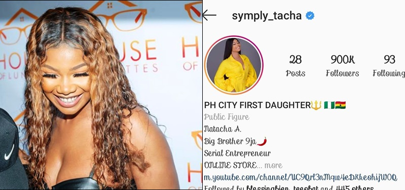 Instagram Deletes Tacha's Account Hours For Alledged Contraband Items
