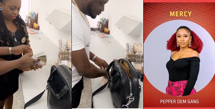 MC Galaxy shows off stacks of cash as he campaigns for BBNaija housemate Mercy