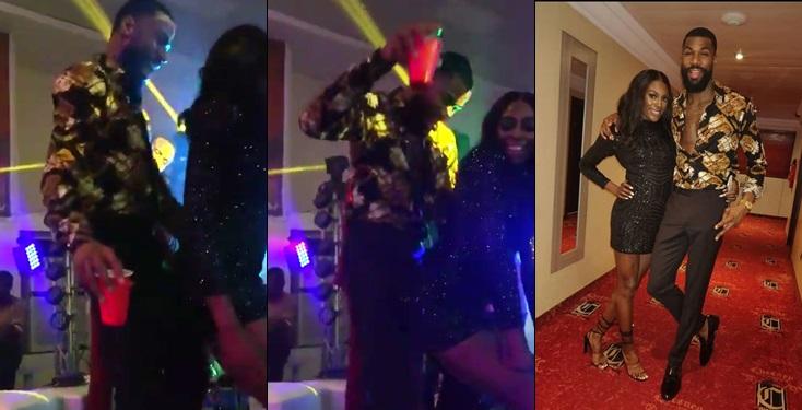 BBNaija: Moment Mike's wife Twerks on him on the dance floor