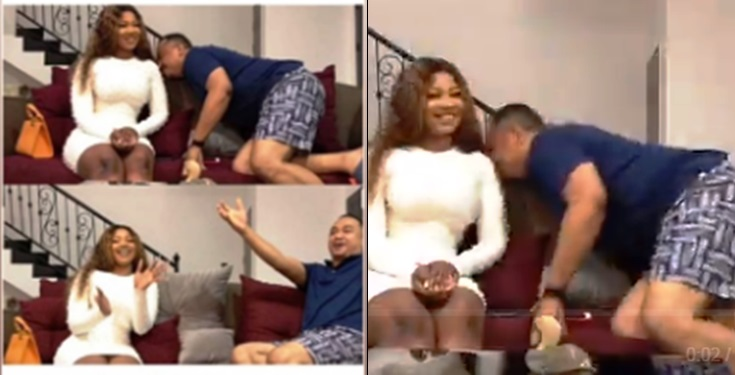 Titans not happy with Daddy Freeze for sniffing Tacha countless times off camera