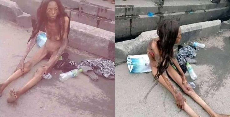 Young girl reduces in size after alighting from a car in Ajah (Video)