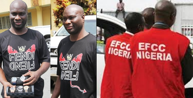 EFCC shares photos to confirm arrest of  Mompha, over alleged internet fraud