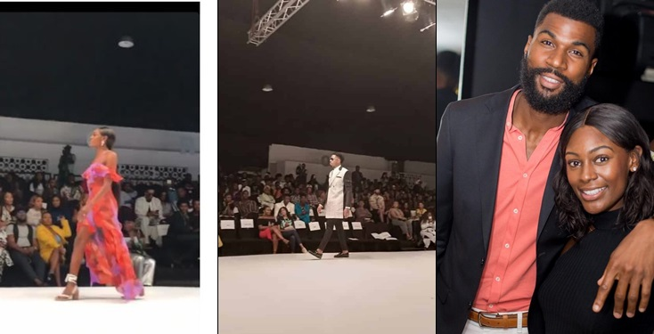 BBNaija Mike's wife, Perri and Ike rock the runway of Lagos Fashion Week in style