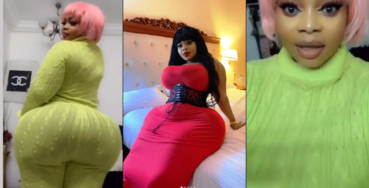 Actress Eudoxie Yao  who claims to have the 'biggest 'natural' celebrity bum and hips in Africa Slays in new video