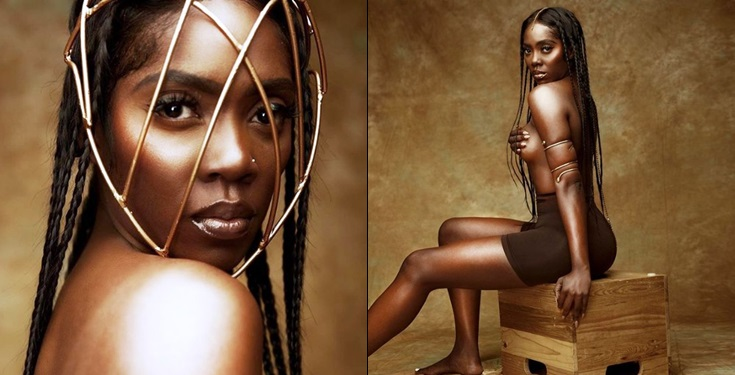 Tiwa Savage Goes Completely Topless Again, Says She Can Bite