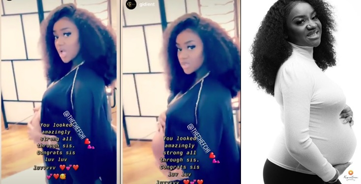 Davido's fiancee Chioma shows off her tummy in cute maternity video