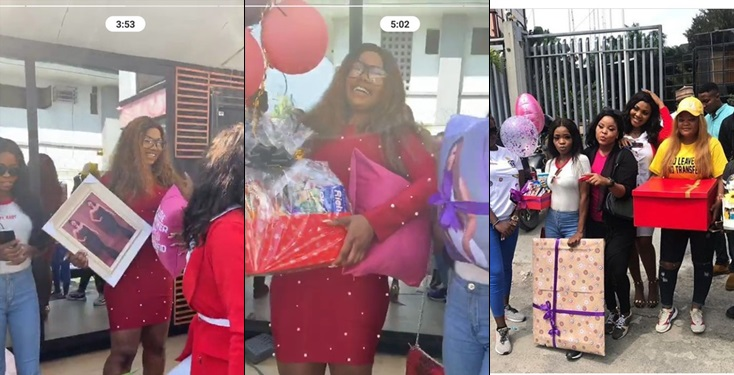 Fans Surprise Tacha With loads of Lovely Gifts At Cool Fm