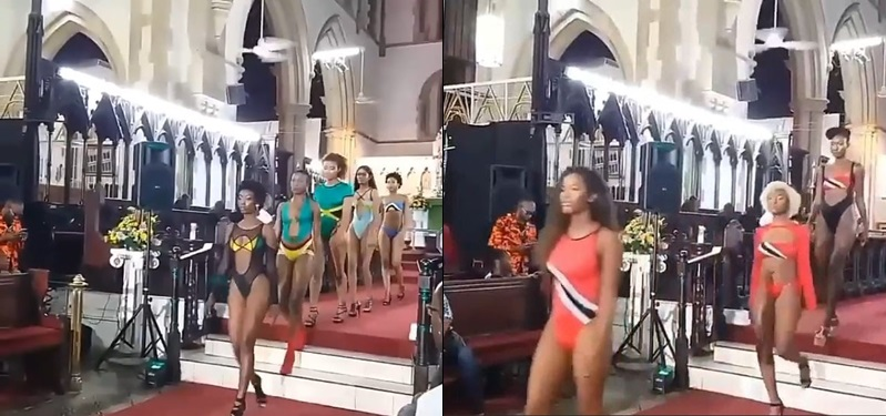 VIDEO: Drama As Church Holds Runway Bikini Beauty Pageant