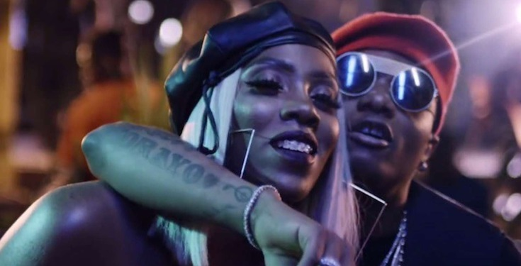 Wizkid touched and squeezed Tiwa Savage's bumbum in Dubai (video)