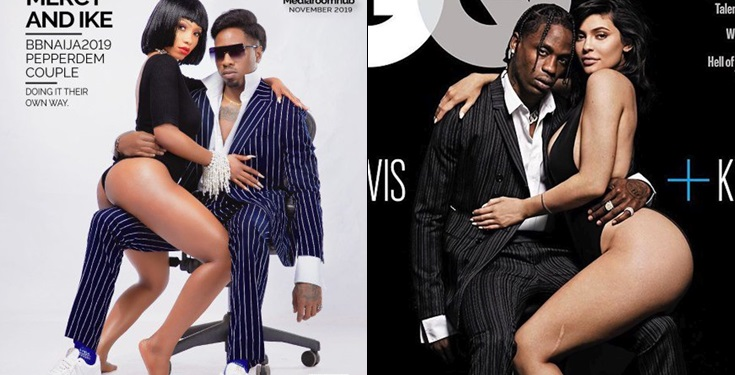 Mercy and Ike called out for copying' kylie Jenner and Travis Scott raunchy pose