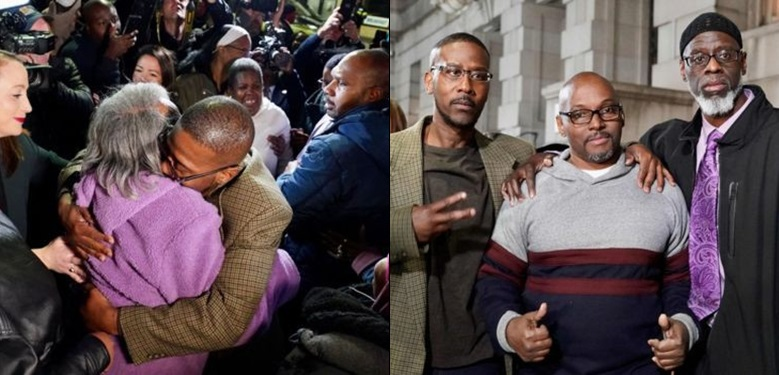 Three men wrongly jailed for life for murder, set free after 36 years in prison (photos)