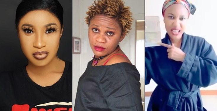 Tonto Dikeh And Stella Dimokokorkus Drag Each Other Over Seizure Of Passport and Court Case