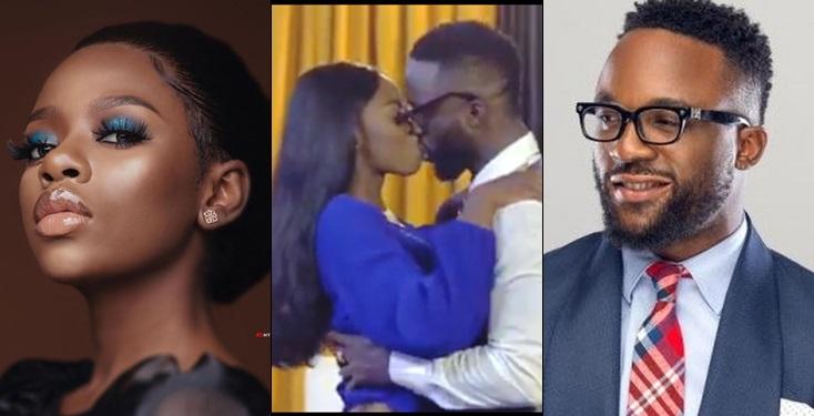BBNaija's Diane nabbed passionately kissing singer, Iyanya (Video)