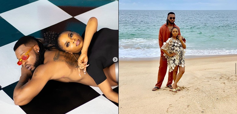 Singer, Chidinma rumoured to be pregnant For Flavour after new photo with him