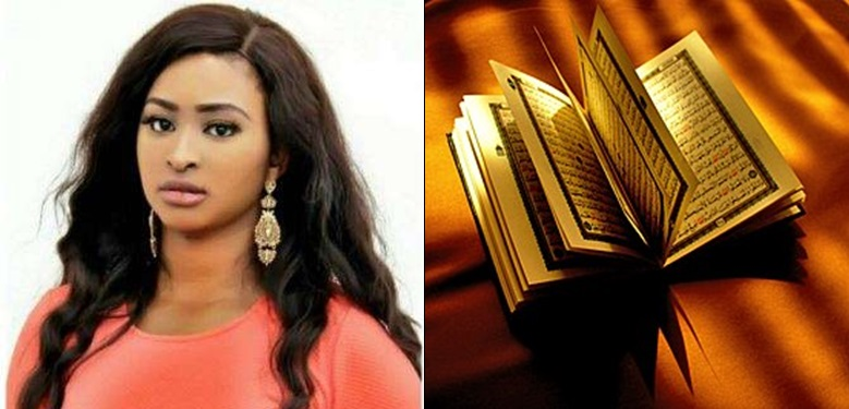 Give me a Quran and I will mess it up in 2 seconds – Etinosa says after using a Bible as an ashtray