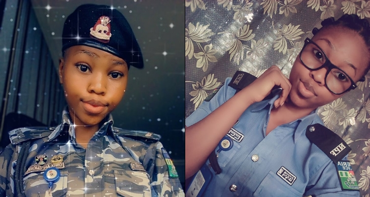"Arrest me"" Nigerian men beg as baby-faced female police nicknamed ..."