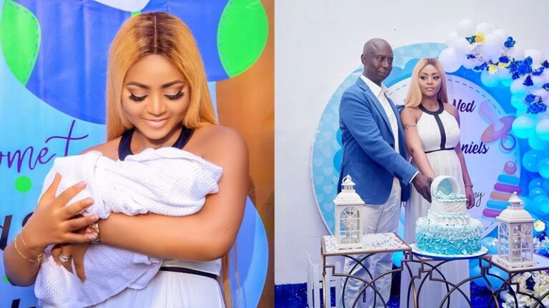 My journey to motherhood has just began - Regina Daniels shares official photos from baby's naming ceremony