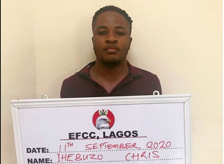 EFCC arrest man for allegedly hacking over 1000 customers' bank details and BVN in Lagos