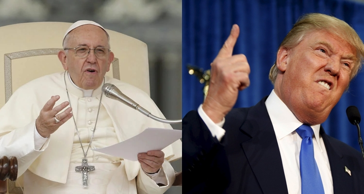 US: Trump is not a Christian – Pope Francis