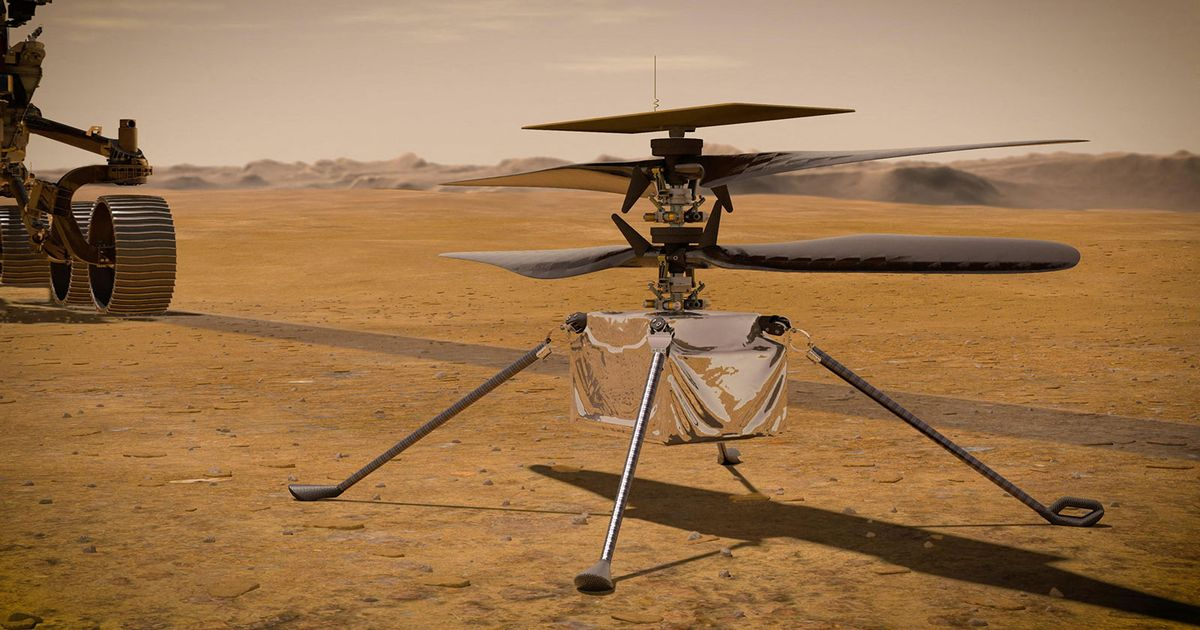NASA helicopter attempts historic takeoff on Mars after beating -90C temperatures