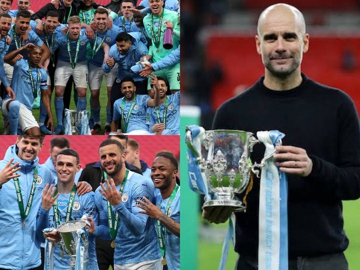 Pep Guardiola Breaks New Record As He Becomes The 1st Manager To Win English league Cup 4 Consecutive Seasons