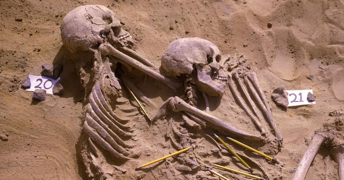 Ancient burial ground filled with corpses from war triggered by huge 'climate change'