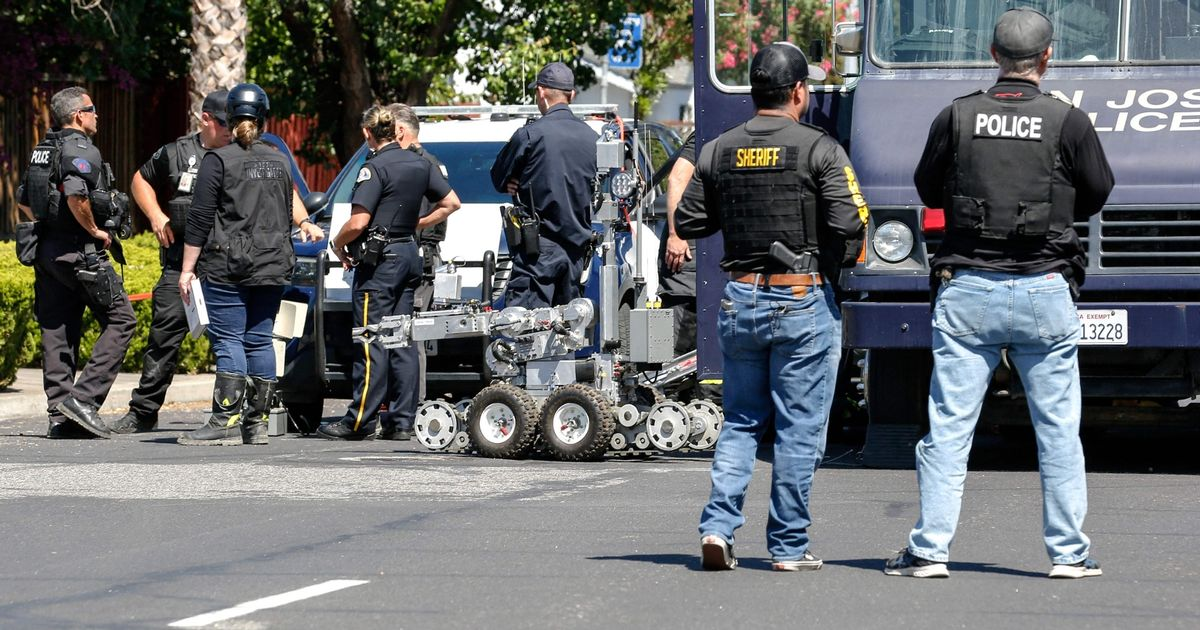 San Jose shooting: Rail worker who shot dead 8 co-workers as home burnt down pictured