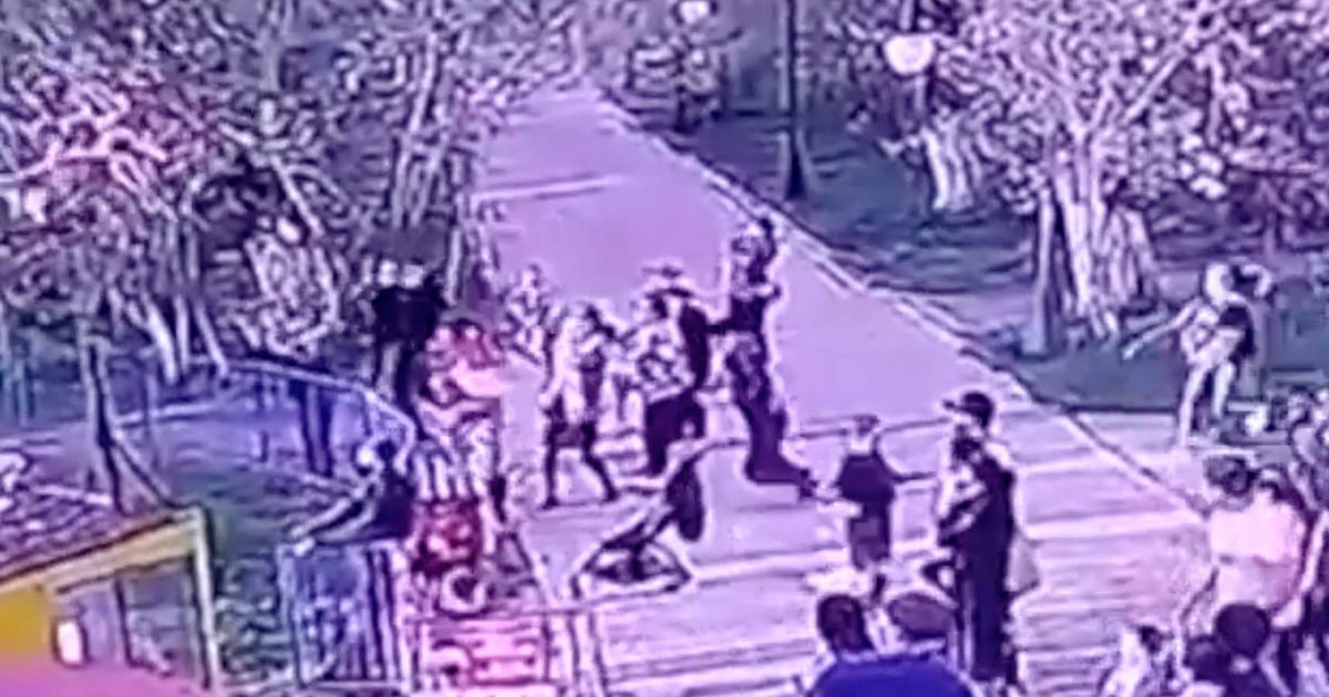 Terror as theme park swing ride 'jams' hurting eight kids in brutal mid-air collision