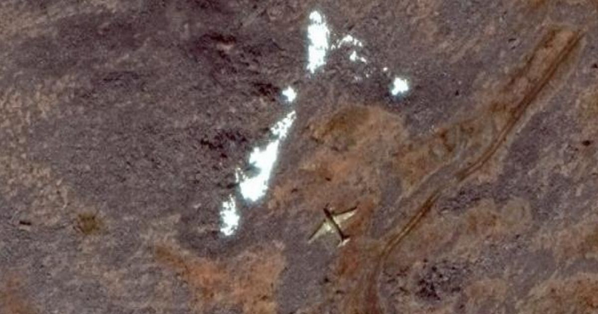 Google Maps user spots eerie image of plane shell left untouched for 51 years