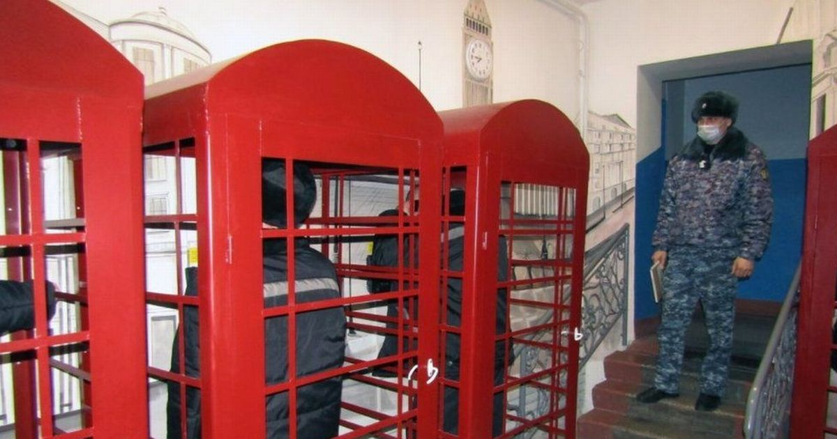 Russian prisoners build 'replica' London complete with working red phone boxes