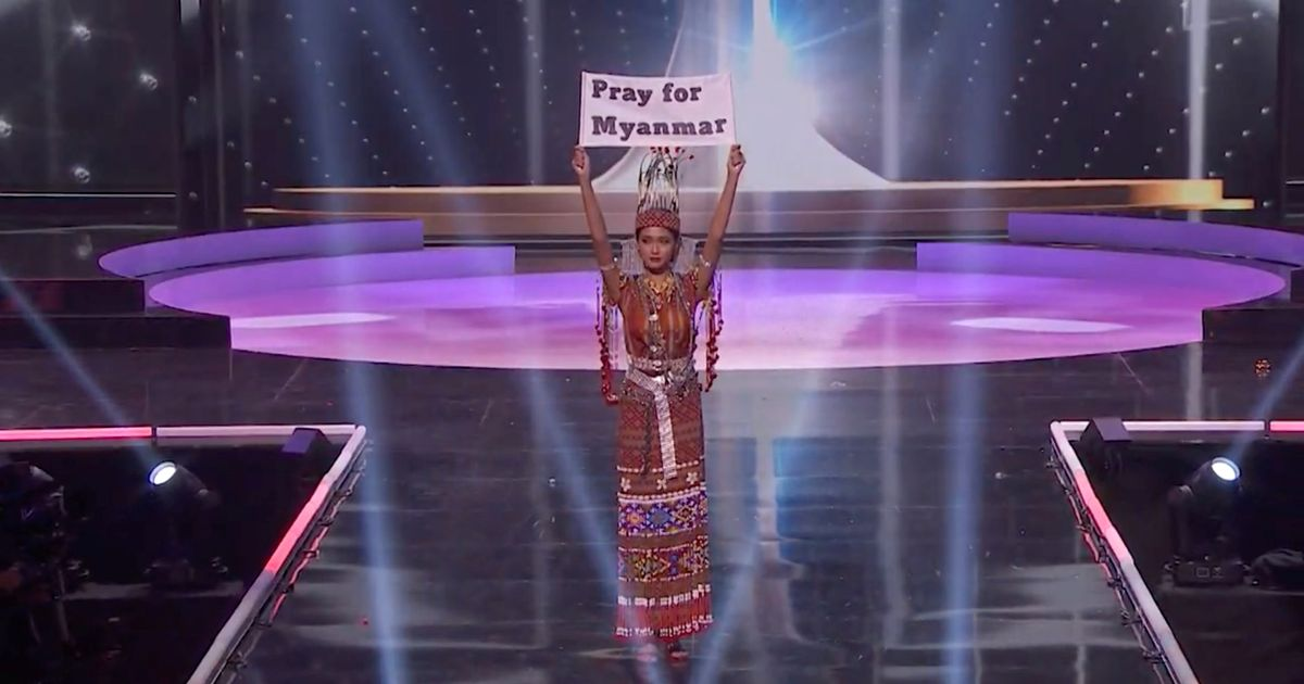 Miss Universe erupts in protests as Myanmar beauty queen pleads 'our people are dying'