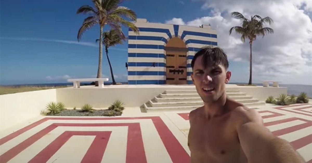 Urban explorers sneak onto Jeffrey Epstein's 'orgy island' and film creepy 'temple'