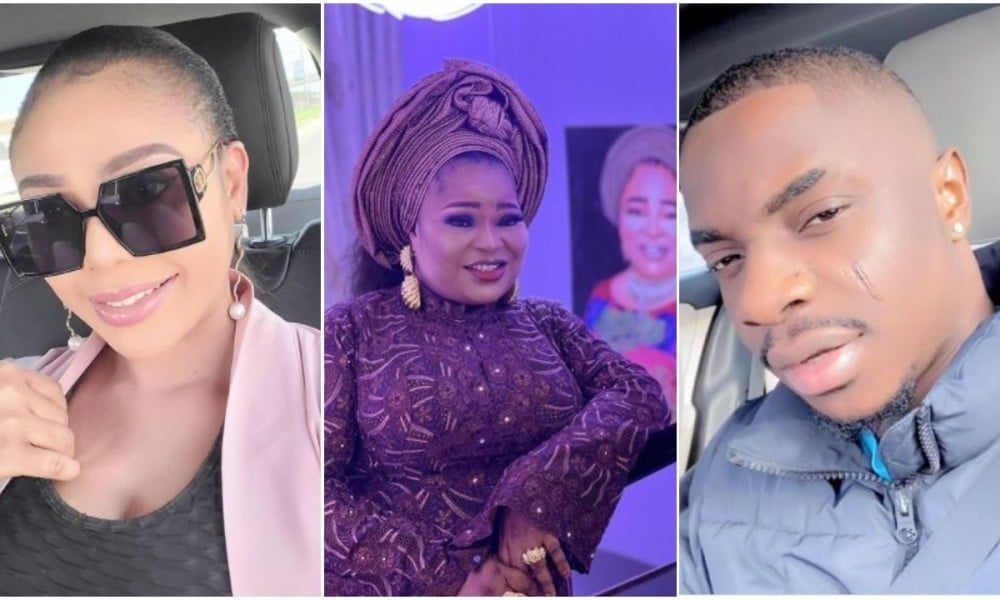 'Confused fellows' Reaction as Ehi Ogbebor unites with MC Olumo's son to celebrate his mother's birthday