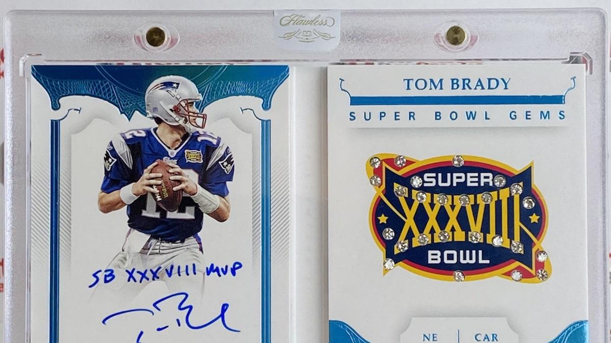 Tom Brady Signed Card w/ Real Diamonds Pulled In Insane Box Break, Best TB12 Card Ever?!