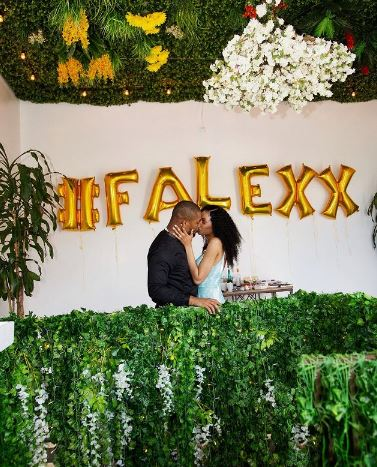 Model Fancy Acholonu Shares Adorable Video Showing Moment Alex Ekubo Proposed To Her