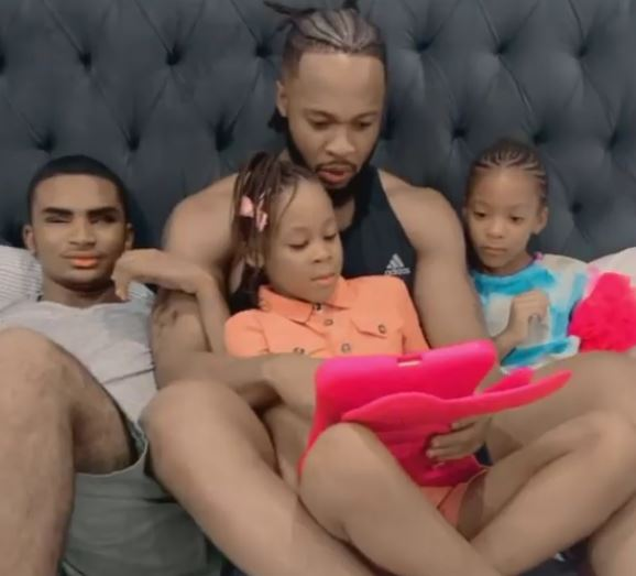 Adorable Video Of Flavour Teaching His Children Igbo Language