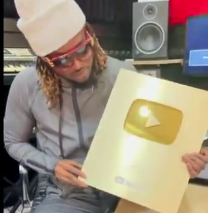 Rudeboy Flaunts YouTube Plaque After Hitting 100m Views