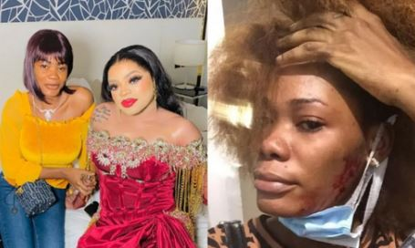"""""""If I Post Your Face Without Makeup And Your Bald Head, People Will Faint""""- Ivorian Lady, Oye Kyme Threatens Bobrisky"""