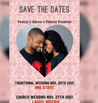 Alex Ekubo And His Fiancee Announce Their Wedding Dates