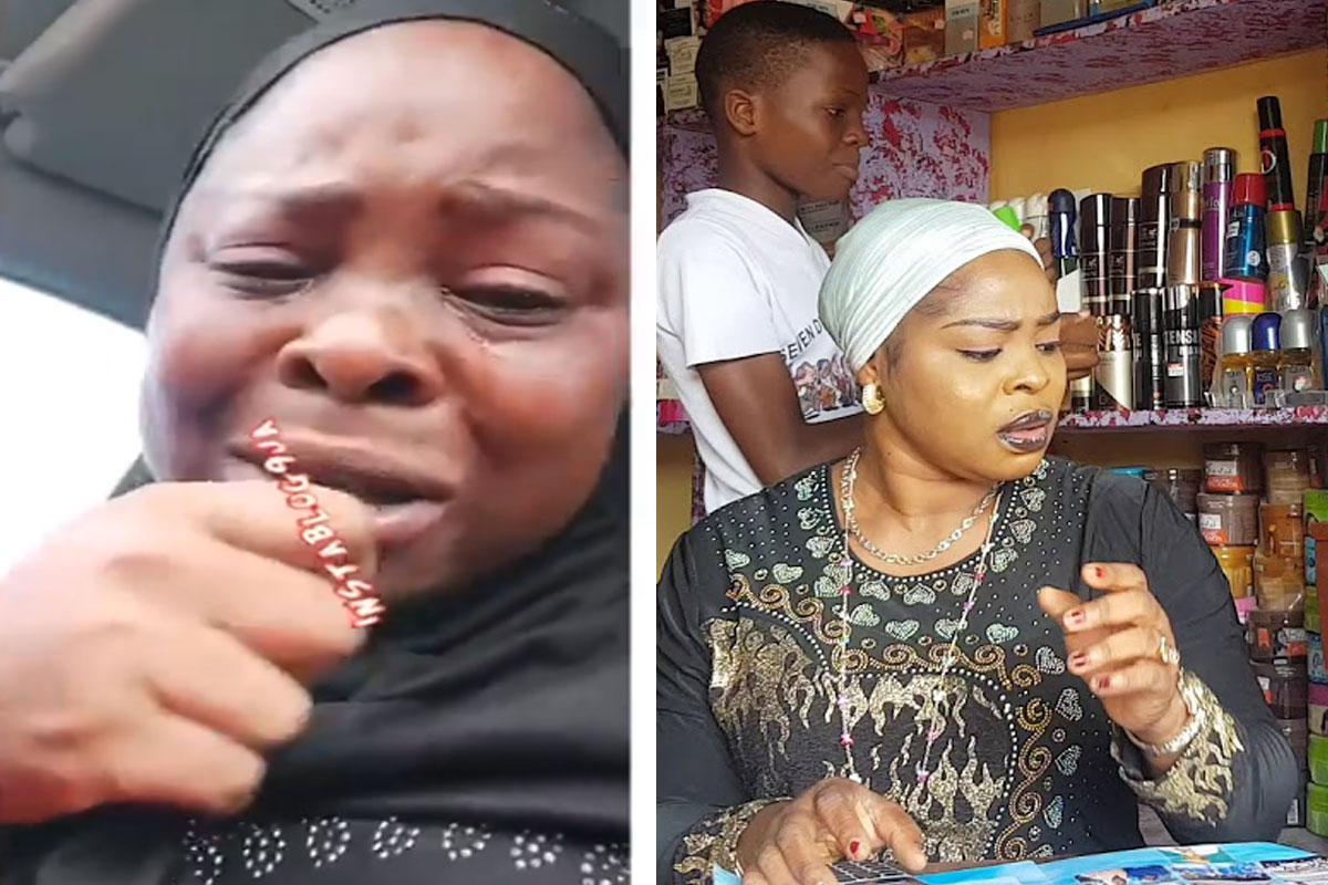 Biola Fowosire breaks down in tears after robbers raided her shop
