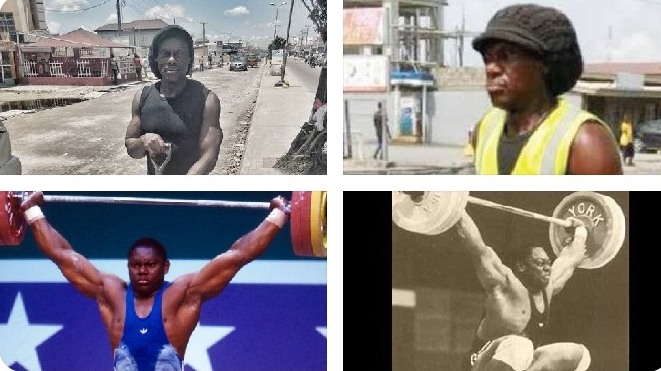 Reactions As Nigerians Discover Man Who Cleans Gutters Around Ajah Was Once An Olympian