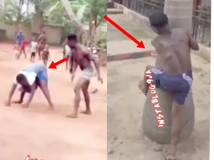 Video: Watch What Was Done To A Man Who Was Seen Beating His Mother In Public